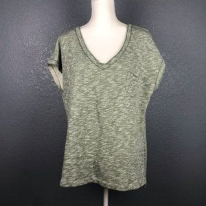 GAP French Terry Tunic Top Heather Green